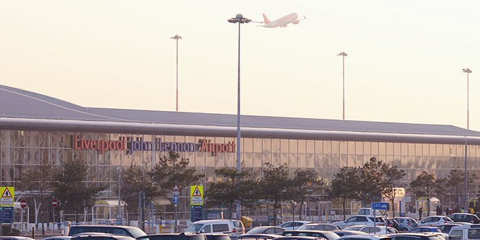 LJLA Terminal Building with Plane